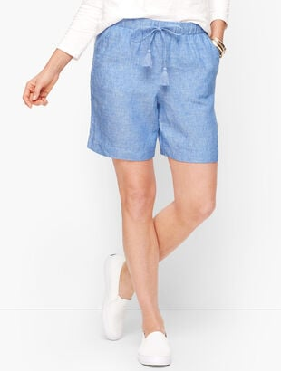 Linen Shorts - Cross-Dyed