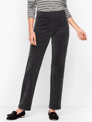 Luxe Velour Straight Leg Pants