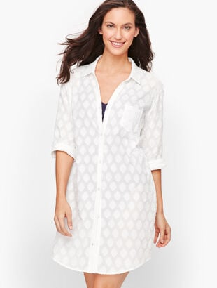 Medallion Jacquard Beach Cover Up