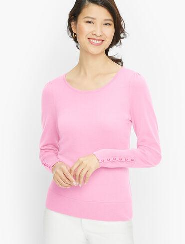 Puff Sleeve Merino Pullover