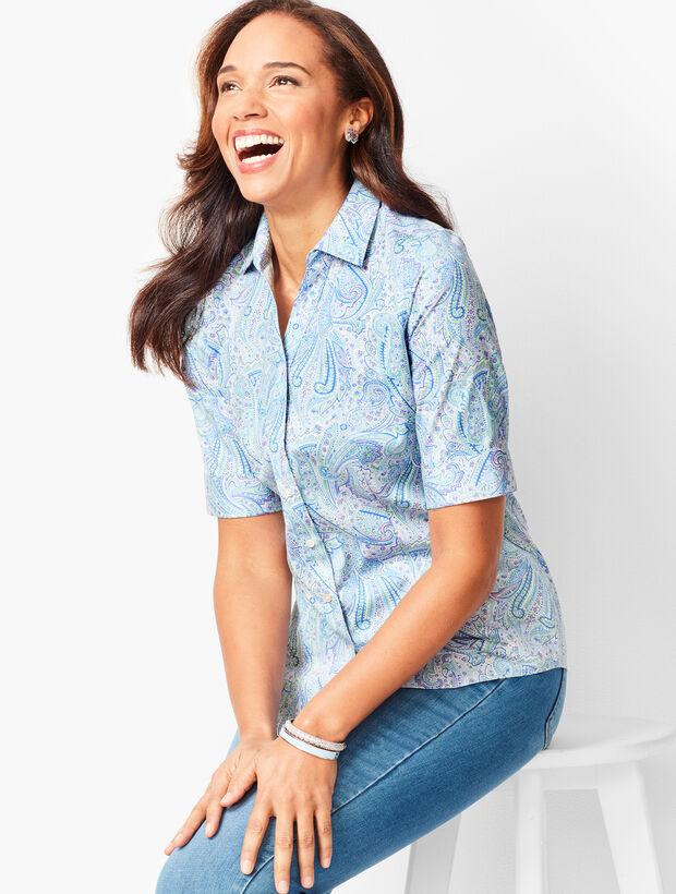 Perfect Shirt - Elbow-Length Sleeves - Paisley