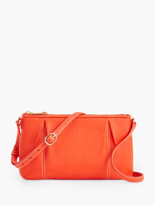 Soft Pebbled Leather Crossbody Bag