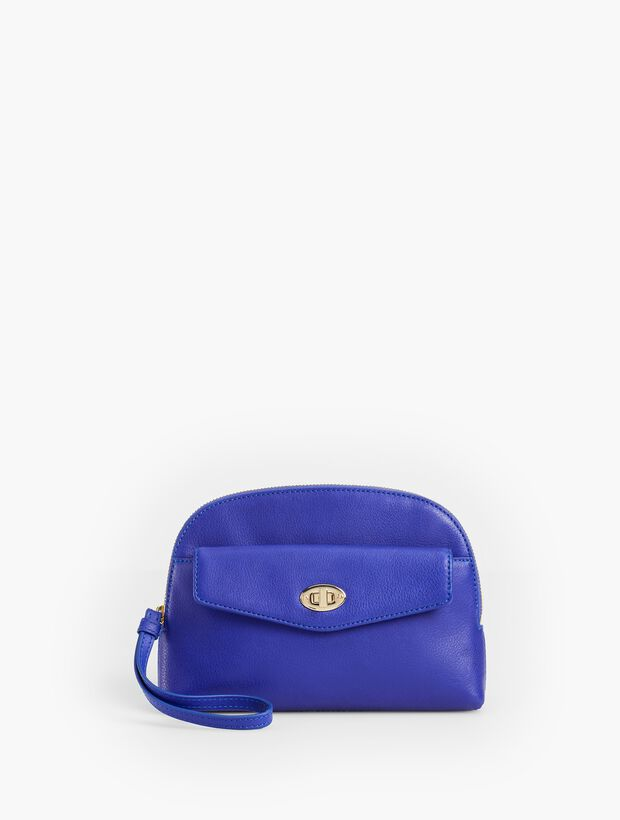 Soft Wristlet - Pebbled Leather