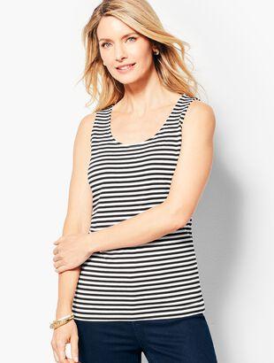 8b3a9d228e5781 Pima Cotton Blend Tank - Stripe