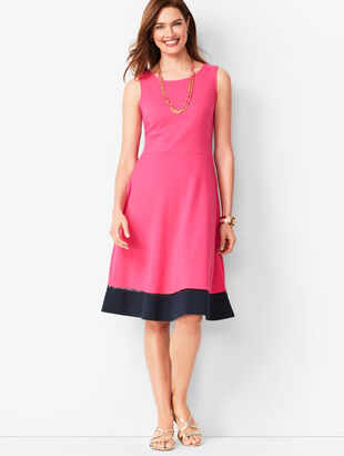 Edie Fit & Flare Dress - Colorblock