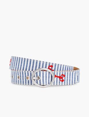 Seersucker Lobster Belt
