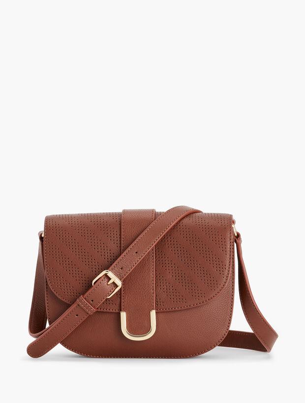 Stripe Pebble Leather Crossbody Bag