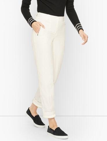 Fleece-Cuff Straight Leg Pants