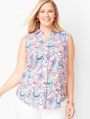 Sleeveless Perfect Shirt - Paisley