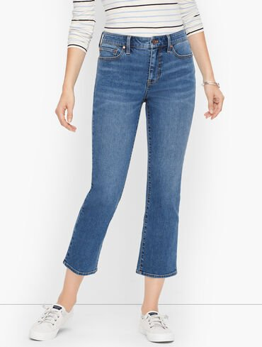 Crop Flare Jeans - Hull Wash