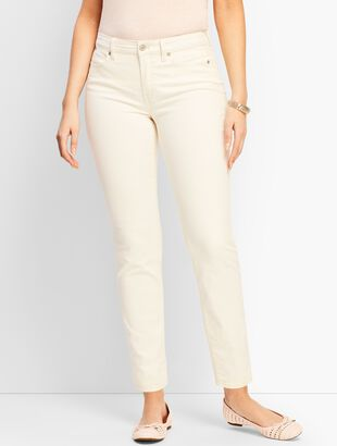 Denim Slim Ankle Jean - Vanilla - Curvy Fit