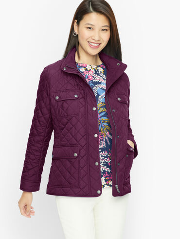 Quilted Snap Front Jacket