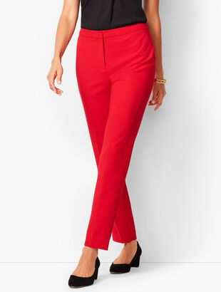 Luxe Double-Cloth Collection - Slim Ankle Pants