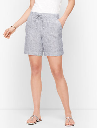 "Linen Beach Shorts - 6"" - Stripe"