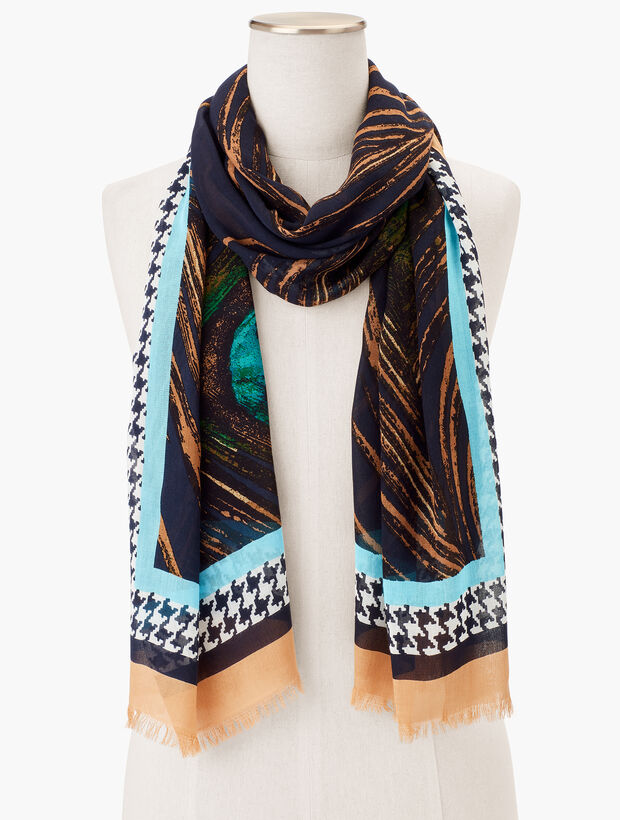 Peacock Feathers Scarf