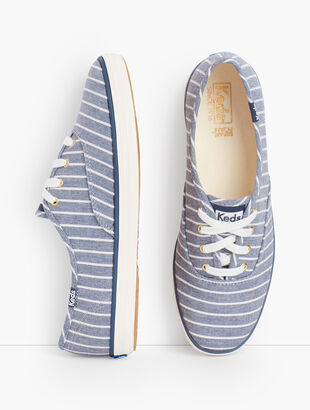 Keds Champion Sneakers® - Chambray Breton Stripe