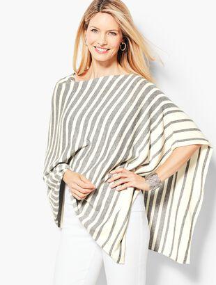 Asymmetric Poncho - Stripe
