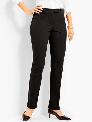 Bi-Stretch High-Waist Straight-Leg Pant-Curvy Fit