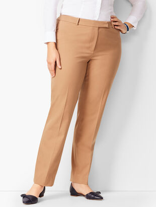 Bi-Stretch High-Waist Straight-Leg Pant - Solid