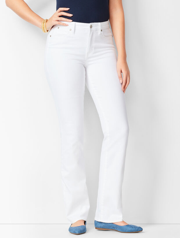 High-Waist Barely Boot Jeans - Curvy Fit/White