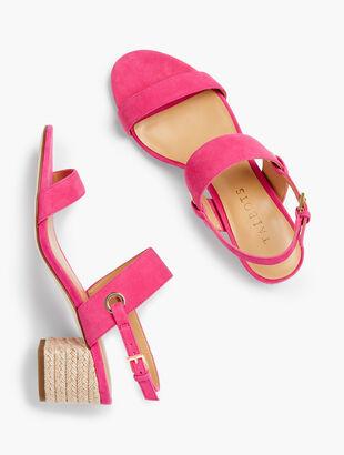 Mimi Rope Heel Sandals - Suede