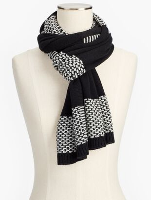 Textured-Stripe Scarf