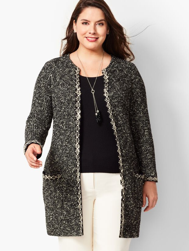 Shimmering Boucle Topper