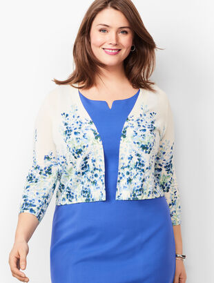 Plus Size Classic Dress Shrug - Floral