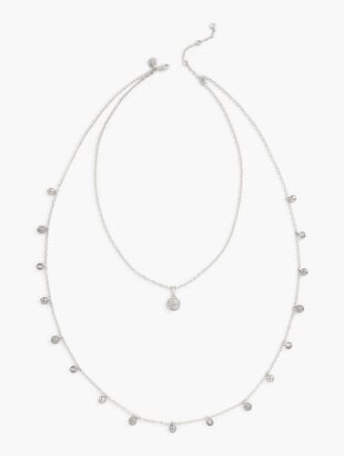 Delicate Silver Layered Necklace