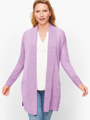 Shawl Collar Open Sweater