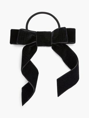 Black Velvet Bow Hair Tie
