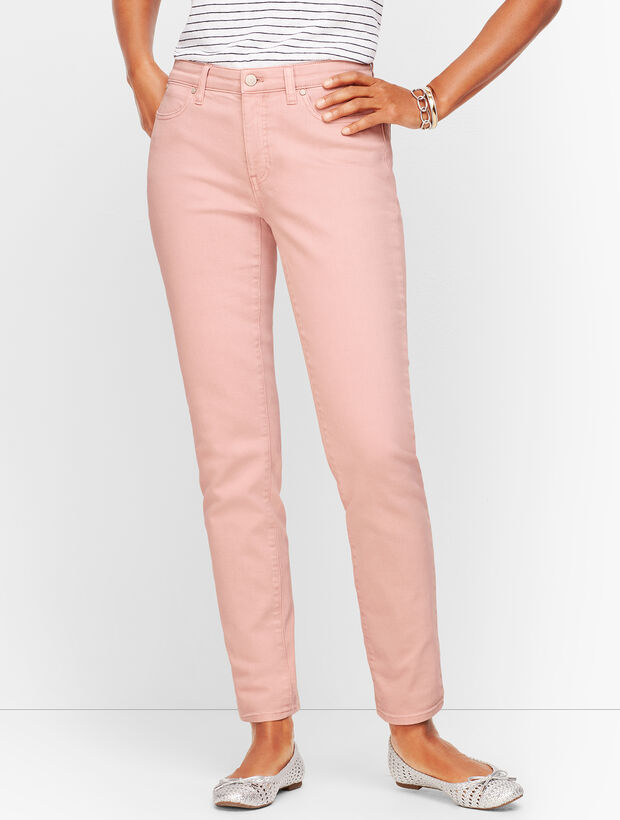 Slim Ankle Jeans - Curvy Fit - Garment-Dyed Frosted Rose