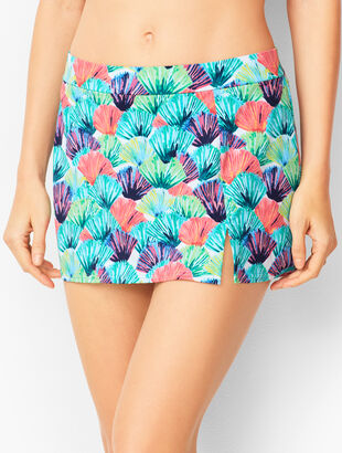 Miraclesuit® Vented Swim Skirt - Watercolor Palm