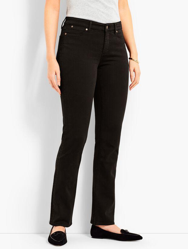 Denim Straight Leg-Curvy Fit/Black