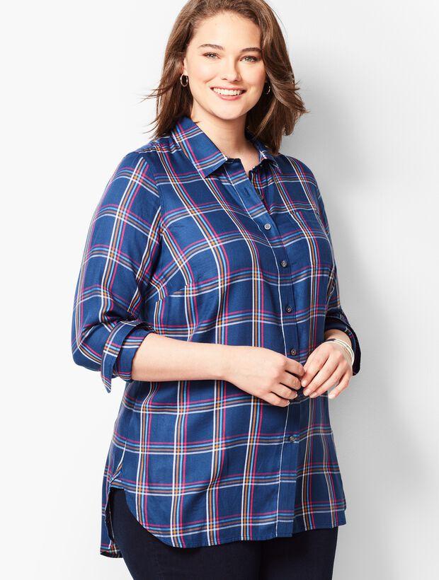 Buckingham Plaid Longer-Length Perfect Shirt