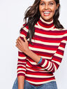 Long-Sleeve Stripe Turtleneck-Autumnal Stripe