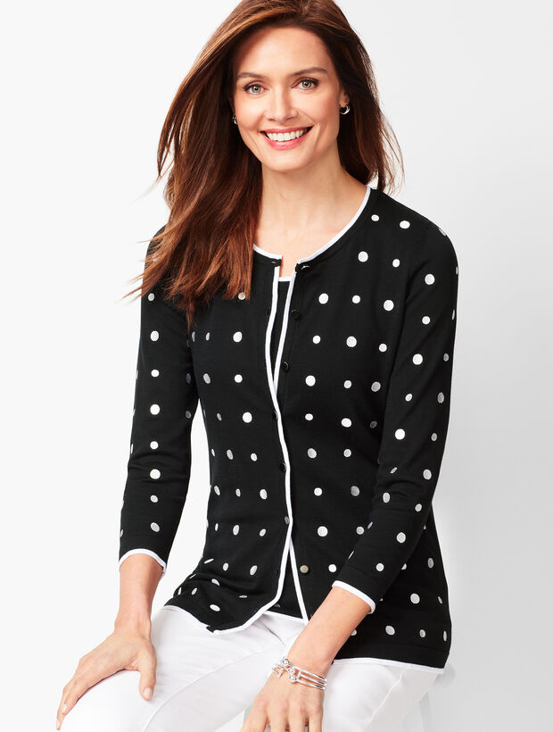 Charming Cardigan - Embroidered Dot
