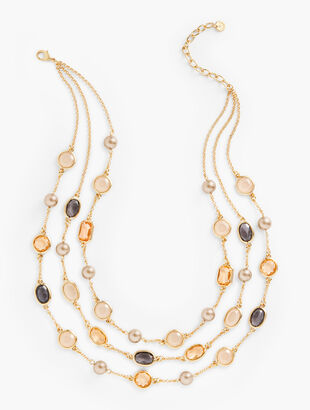 Mirage Bead Layered Necklace