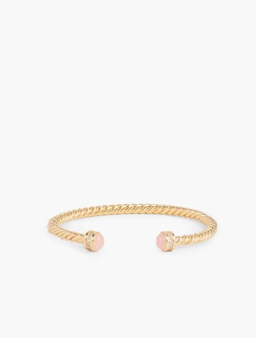 Gold-Plated Sterling Silver Semiprecious Sparkle Bangle