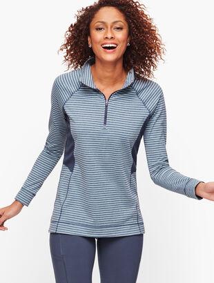 Stripe On the Move Half Zip Pullover