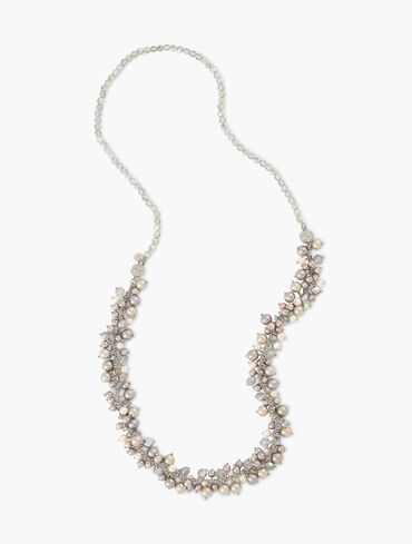 Silver Bells Long Necklace