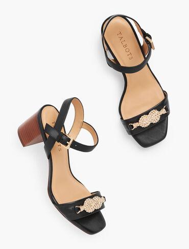 Sera Knot Nappa Leather Sandals