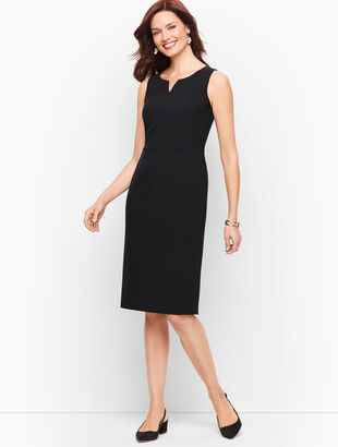 Stretch Crepe Sheath Dress