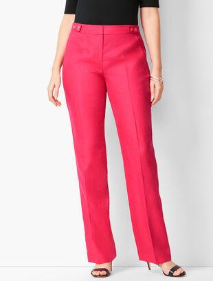Talbots Windsor Linen Wide-Leg Pants - Curvy Fit