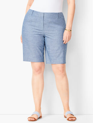 Perfect Shorts - Bermuda Length - Chambray