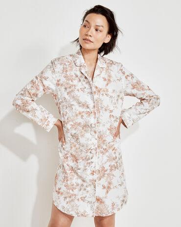 Organic True Cotton Autumn Floral Sleep Shirt