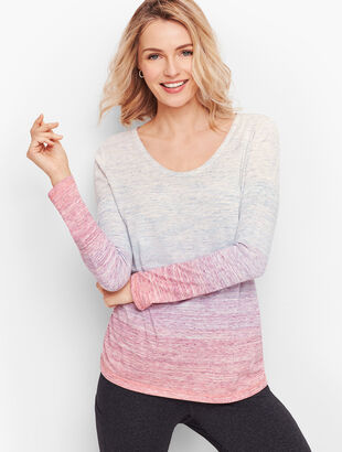 Side Ruched Tee - Ombre