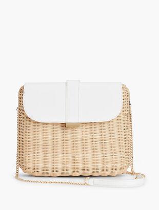 Wicker & Leather Shoulder Bag