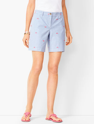 Girlfriend Chino Shorts - Watermelon Print
