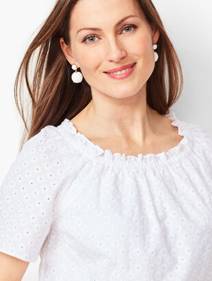 Off-the-Shoulder Blouse - Eyelet